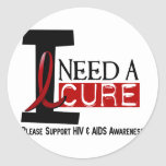 AIDS / HIV I NEED A CURE 1 STICKERS