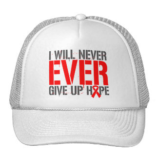 AIDS HIV I Will Never Ever Give Up Hope Mesh Hats