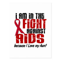 AIDS HIV In The Fight 1 Aunt Postcard