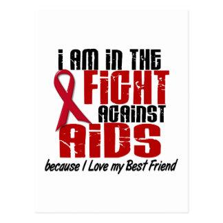 AIDS HIV In The Fight 1 Best Friend Postcard