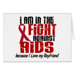 AIDS HIV In The Fight 1 Boyfriend Greeting Card
