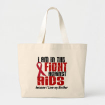 AIDS HIV In The Fight 1 Brother Large Tote Bag