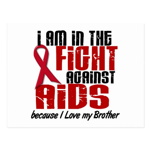 AIDS HIV In The Fight 1 Brother Post Cards
