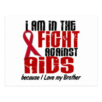 AIDS HIV In The Fight 1 Brother Postcard