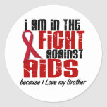 AIDS HIV In The Fight 1 Brother Stickers