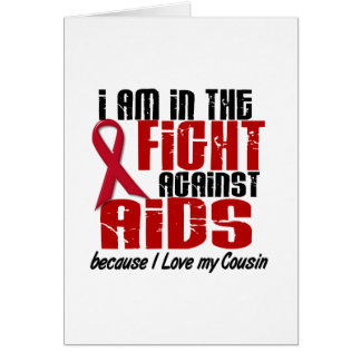 AIDS HIV In The Fight 1 Cousin Card