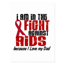 AIDS HIV In The Fight 1 Dad Postcard