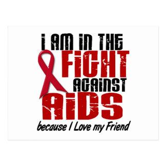 AIDS HIV In The Fight 1 Friend Postcard