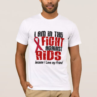 AIDS HIV In The Fight 1 Friend T-Shirt