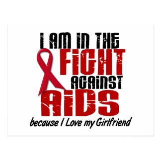 AIDS HIV In The Fight 1 Girlfriend Postcard