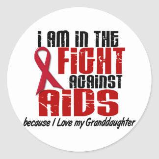 AIDS HIV In The Fight 1 Granddaughter Classic Round Sticker