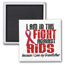 AIDS HIV In The Fight 1 Grandfather Magnet