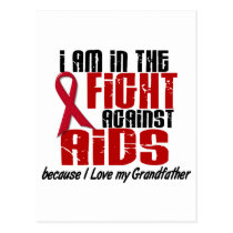 AIDS HIV In The Fight 1 Grandfather Postcard