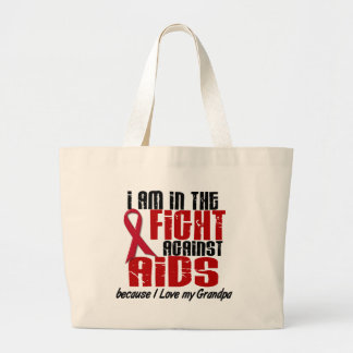 AIDS HIV In The Fight 1 Grandpa Large Tote Bag