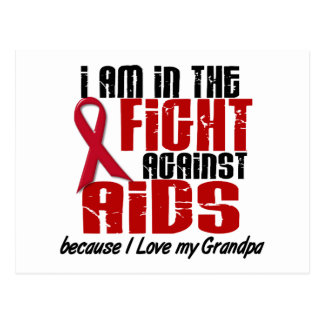 AIDS HIV In The Fight 1 Grandpa Postcard
