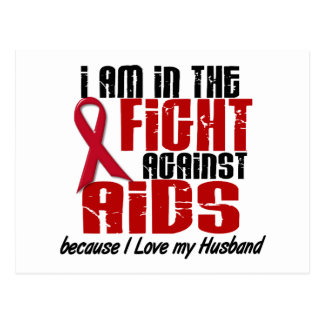 AIDS HIV In The Fight 1 Husband Postcard