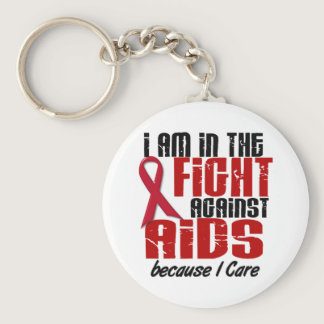 AIDS HIV In The Fight 1 I Care Keychain
