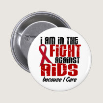 AIDS HIV In The Fight 1 I Care Pinback Button