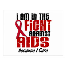AIDS HIV In The Fight 1 I Care Postcard