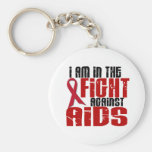 AIDS HIV In The Fight 1 Keychain