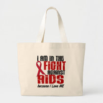 AIDS HIV In The Fight 1 Me Large Tote Bag