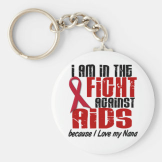 AIDS HIV In The Fight 1 Nana Keychain