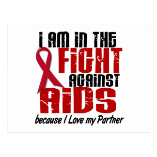 AIDS HIV In The Fight 1 Partner Postcard