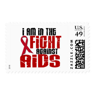 AIDS HIV In The Fight 1 Postage Stamp