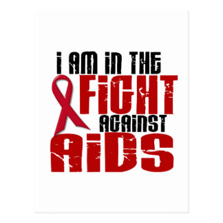 AIDS HIV In The Fight 1 Postcard