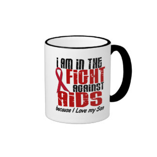 AIDS HIV In The Fight 1 Son Ringer Coffee Mug