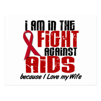 AIDS HIV In The Fight 1 Wife Postcard