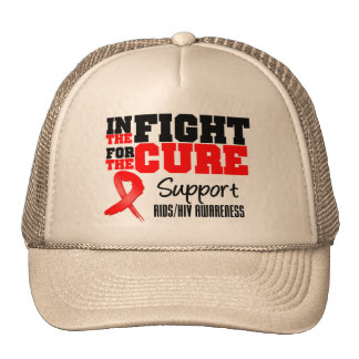 AIDS HIV In The Fight For The Cure Mesh Hats