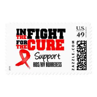 AIDS HIV In The Fight For The Cure Postage Stamps