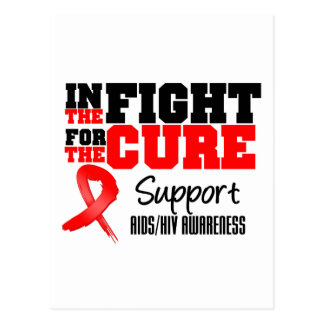 AIDS HIV In The Fight For The Cure Postcard