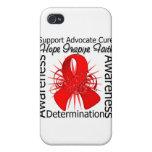 AIDS HIV Inspirations Spiral Ribbon iPhone 4/4S Cover