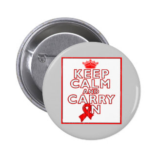 AIDS HIV Keep Calm and Carry ON Button