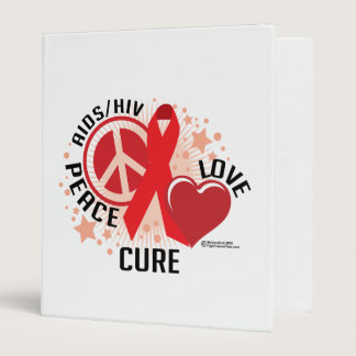 AIDS/HIV Peace Love Cure Binder