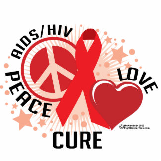 AIDS/HIV Peace Love Cure Statuette