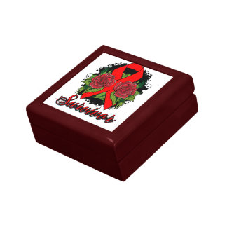 AIDS HIV Rose Grunge Tattoo Gift Boxes