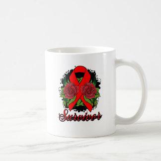 AIDS HIV Rose Grunge Tattoo Classic White Coffee Mug