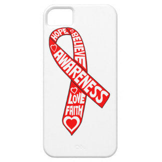 AIDS HIV Slogans Ribbon iPhone 5 Covers