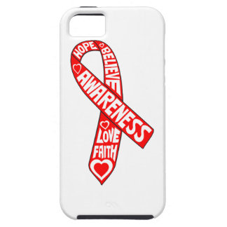 AIDS HIV Slogans Ribbon iPhone 5 Cases