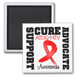 AIDS HIV Support Advocate Cure Magnet