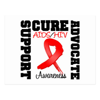 AIDS HIV Support Advocate Cure Postcard