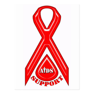AIDS/HIV support logo design Postcard