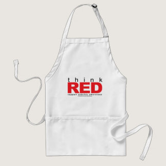 AIDS/HIV Think Red Adult Apron