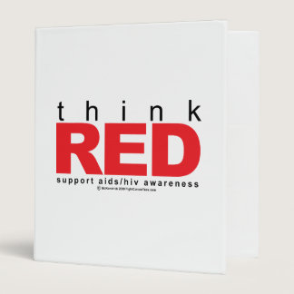 AIDS/HIV Think Red Binder