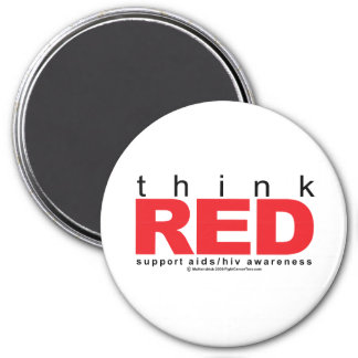 AIDS/HIV Think Red Magnet