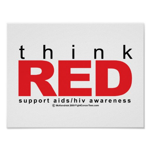 AIDS/HIV Think Red Print