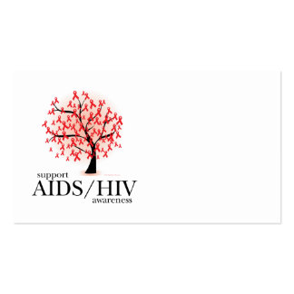 AIDS/HIV Tree Double-Sided Standard Business Cards (Pack Of 100)
